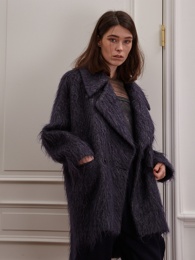 Over Fit Mohair Coat