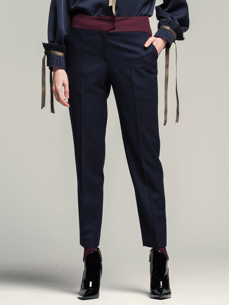 Straight-leg Pants_navy